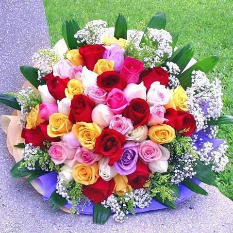 Filipinas Gifts 60 Mix Roses Bouquet