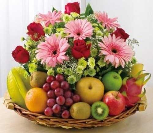 Filipinas Gifts Flowers Mix Fruit Basket