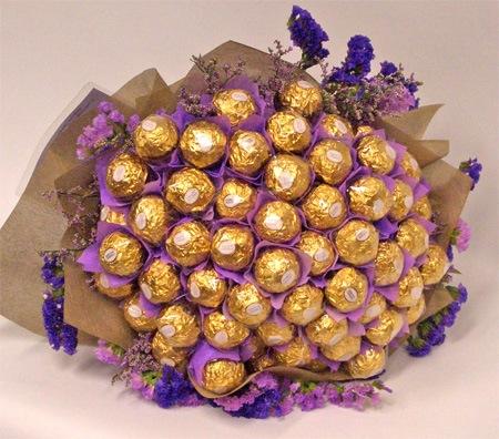 Сделать букет из конфет своими руками пошаговое для девушки