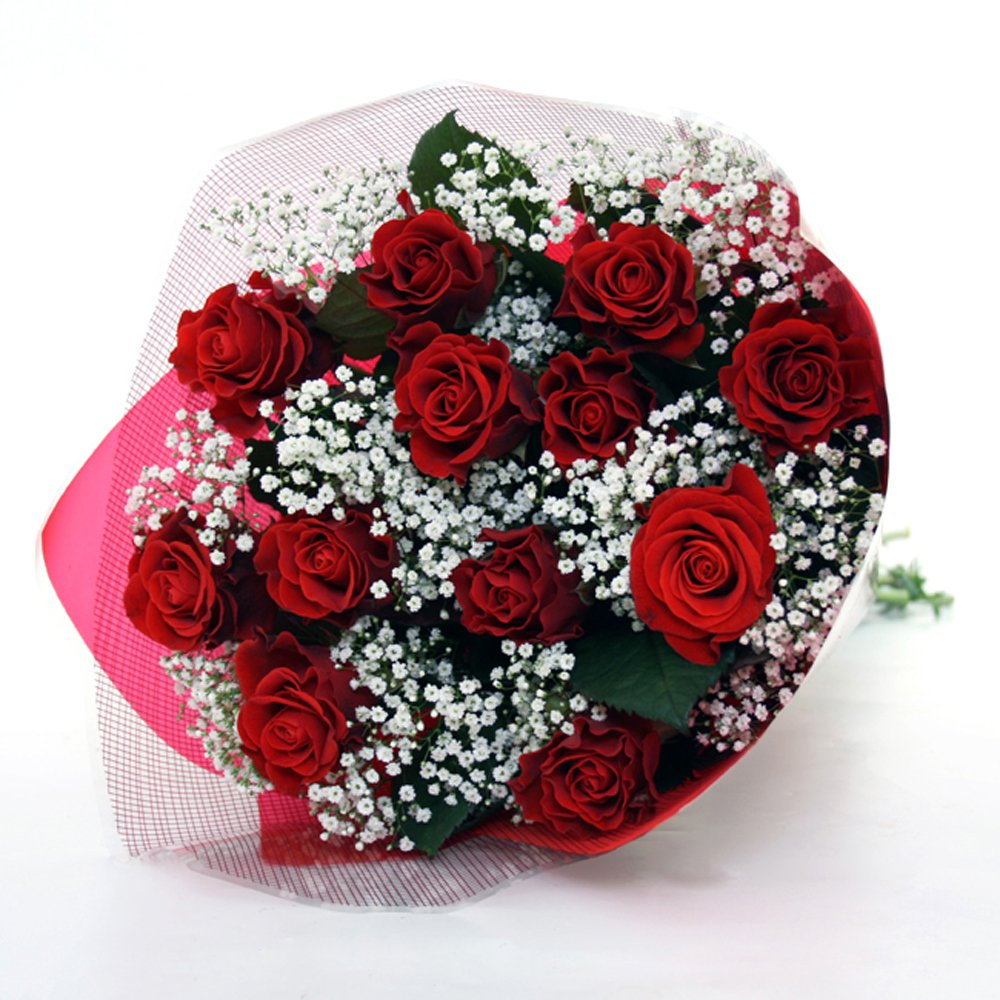 Filipinas Gifts Romantic 12 Red Rose Bouquet