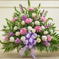 Heartfelt Sympathy Basket in Purple
