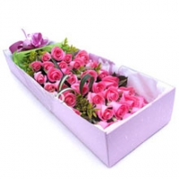 36 Pcs. Pink Roses in a beautiful box