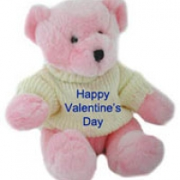 "36"" Pink Happy Valentine's Day Teddy Bear with T-shirt"