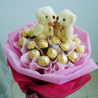 Ferrero Rocher Bear Bouquet