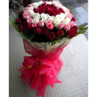 24 red,12 white & 12 pink bunch
