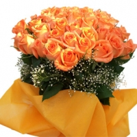 48 Orange Roses bunch
