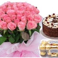 Roses, sweets, cake