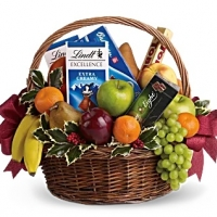 Basket Fruits and Sweets Christmas Basket