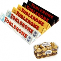 Mix toblerone w/200 g ferrero