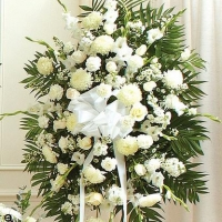 Sympathy Standing Easel Spray White