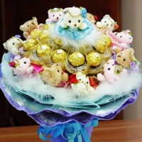 12 small teddy & 24 ferrero bunch
