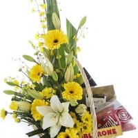 Chocolate Pleasure Flower Basket