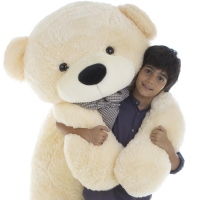Giant cream white teddy bear