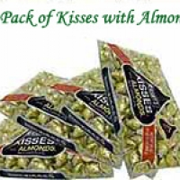 4 pack Kisses with almonds 311 each