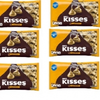 kisses milk chocolates with almonds , 6 bar