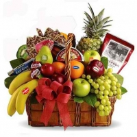 6 items fruits w/gift basket