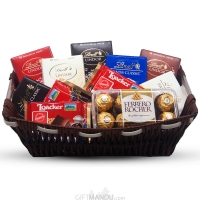 Lindt, Loacker & Ferrero Rocher Chocolate Basket ..