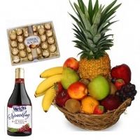 6 items fruits w/sparkling Juice & ferrero