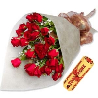 2 Dozen Rose With Toblerone Pack